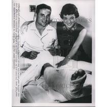 1954 Press Photo Bobby Thomson Milwaukee Braves - nes01233