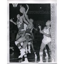 1957 Press Photo Lee Mcknight, and John Coalmon at championship - nes03173