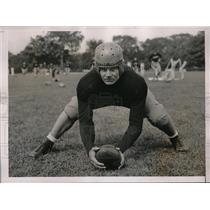 1936 Press Photo Frank Hartline at First Practice with Army Football West Point