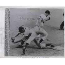1951 Press Photo Whitey Lockman Giants, Reds Virgil Stallcup - nes02305