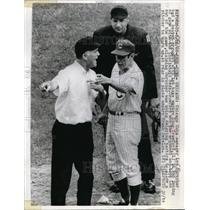 1969 Press Photo Leo Durocher Manager Cubs Argues With Umpire Shag Crawford MLB