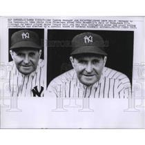 1957 Press Photo Former Yankee Manager Joe McCarthy Voted Baseball Hall of Fame