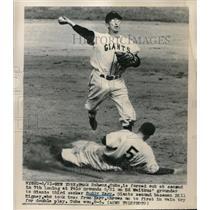 1948 Press Photo Hank Schenz Buddy Carr Cubs-Giants - nes01045