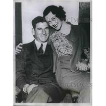 1934 Press Photo Arthur Pinkey Whitney and his bride Audrey Boyd of Houston, MS