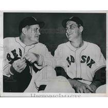 1950 Press Photo Boston Red Sox mgr Joe McCarthy & Clyde Vollmer - nes01666