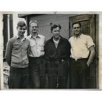 1933 Press Photo Byrd's Expedition, John Dyer, S. Pierce, C. Bailey, Hutcheson