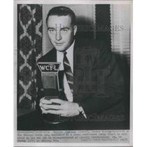 1952 Press Photo Charles Comiskey White Sox Announces VP Of Liberty Broadcasting