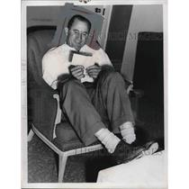 1954 Press Photo Al Lopez Manager Cleveland Indians New MLB Baseball Lineup