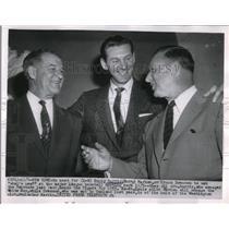 1954 Press Photo Bucky Harris Marty Marion Chuck Dressen White Sox Tigers MLB