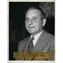 1947 Press Photo Benjamin Firery, American League Attorney Subbed for White Sox
