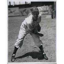 1947 Press Photo New York Giants Pitcher Larry Jansen Won Against Cardinals