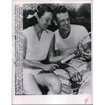 1951 Press Photo Pittsburgh Pirates Ralph Kiner & Nancy Chaffee - nes00288