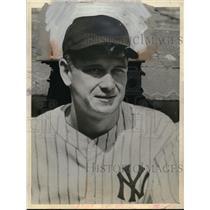 1946 Press Photo Jerry Priddy Second 2nd Baseman New York Yankees MLB Player