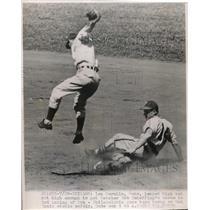 1948 Press Photo Len Merullo Cubs, Bob Scheffing - nes01017