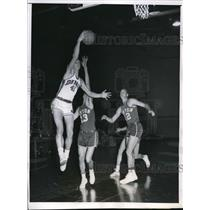 1958 Press Photo Mike Salzinski, Terry Bockthorn and Arlen Bockthorn - nes03153