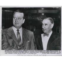1954 Press Photo Arnold Johnson Chicago Realtor Earle Mack Co-owner Athletics