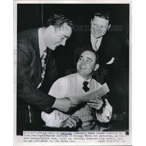 1951 Press Photo Al Zarilla Charles Comiskey White Sox Frank Lane - nes01050