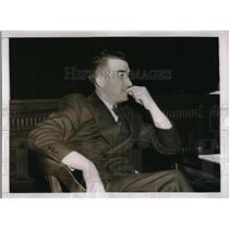 1937 Press Photo Al Simmons of Washington Senators at Senatorial Hearing