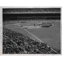 1949 Press Photo Mary Margaret McBrides Anniversary at Yankee Stadium