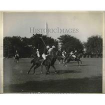 1929 Press Photo Third Cavalry vs. War College in Washington Polo Match