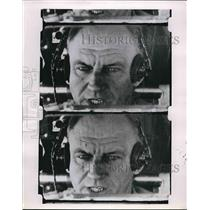 1955 Press Photo Camera's eye view of pilot's eyes to study reaction times