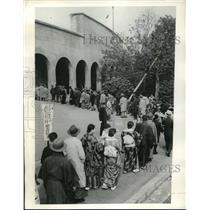 1934 Press Photo of Spectators at Waseda vs. Keio University Baseball Game Tokyo