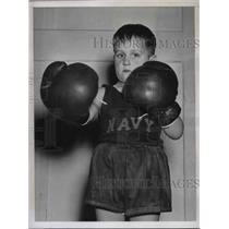 1938 Press Photo Walter Denham Navy son in annual Boxing Tourney. - nes04368