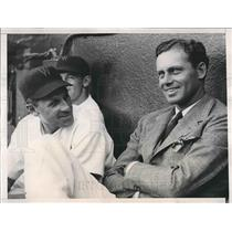 1938 Press Photo Wash. D.C. Senators Wesley Ferrell & Ossie Bluege