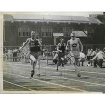 1929 Press Photo Holy Cross' Daley & Colgate's Kent Qualify for Finals in PA