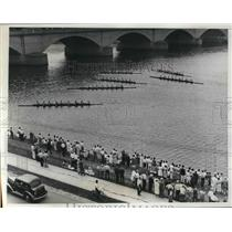 1935 Press Photo New York AC winning the Junior-Eight Oared Shell event in the
