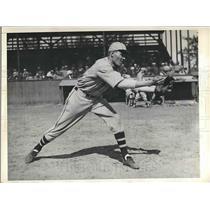 1934 Press Photo Richard Gysleman Infielder Boston Braves Spring Training MLB