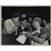 1946 Press Photo Mickey Owen former Broklyn Dodger catcher & now player manager