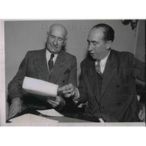 1935 Press Photo Minor League Baseball Ex President Tom Hickey & George Trautman