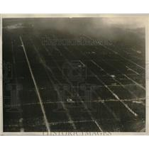 1930 Press Photo Los Angeles Plane Picture Of Mini Cyclone Near Lakehurst, NJ