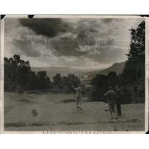 1927 Press Photo of Beautiful 16th Hole of Pitlochry Links in Scotland