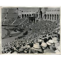 1931 Press Photo of Crowd at Opening Parade of Olympic Games in Los Angeles, CA