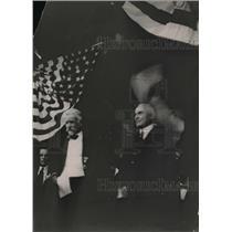 1920 Press Photo Warren G. Harding, Cabot Lodge In Senate