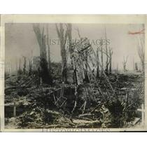 1927 Press Photo Remains of Duke of Chaulnes chateau destroyed by Germans