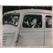 1935 Press Photo Swedish Prince Gustaf Adolf & Princess Sibylla