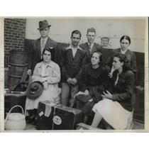 1944 Press Photo Jose Teixeira, Manuel Albuquerque, Clarence Andrade, Dolores
