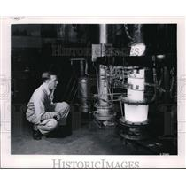 1954 Press Photo turbojet engine at NACA's Lewis Flight Propulsion Lab