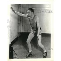 1935 Press Photo Don Allen, Notre Dame Junior College Basketball - nes04938