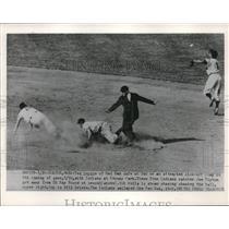 1952 Press Photo Ted Lepcio, Boston Red Sox, Ray Boone, Bob Avila, Indians