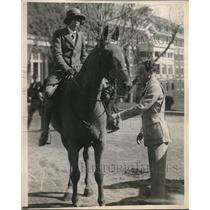 1923 Press Photo Audrey Faust on a Horse and Mr. M. Neiderhaus - neb63502