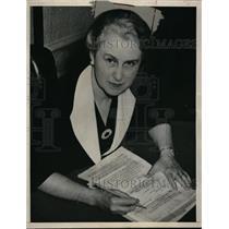 1939 Press Photo Myrtle Enking, Idaho State Treasurer