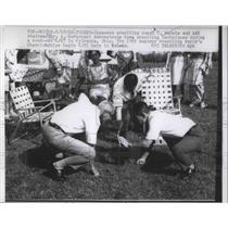 1962 Press Photo Japanese Wrestling Coach T Murata & AAU Chairman Dr DeFerrari