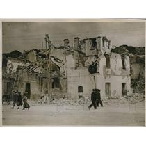 1930 Press Photo Bisacdio, Italy destruction from an earthquake