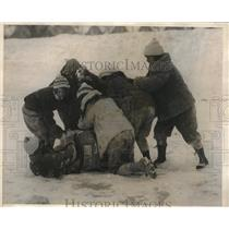 1925 Press Photo Boston girls having a romp in the snow at Quebec