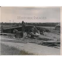 1936 Press Photo militia called to scene of tornado devastated Burbank OK