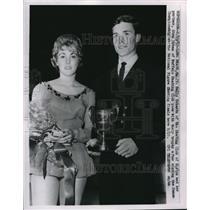 1963 Press Photo Sally Schantz, Stan Urban, National Figure Skating, California